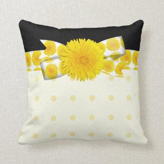Coussin Mariage jaune de pissenlit de printemps