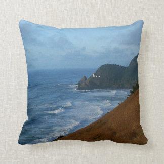 Coussin Mer côtière rocailleuse d'océan de plage de