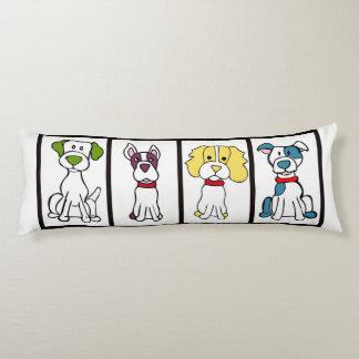 Coussin mignon de corps de chien - illustrations