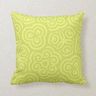 Coussin Modèle abstrait Chartreuse