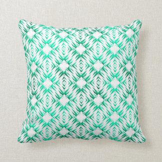 Coussin Modèle turquoise géométrique abstrait