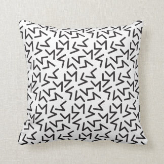 Coussin monochrome abstrait de motif
