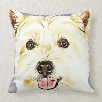 Coussin Montagne Terrier blanc occidentale, Westie, chien,