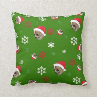 Coussin Motif adorable de Noël de chiwawa