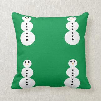 Coussin Motif de bonhomme de neige