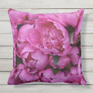 Coussin Motif floral de fleur rose sûre extérieure de