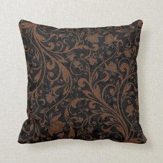 Coussin Motif floral de tigre brun noir mignon