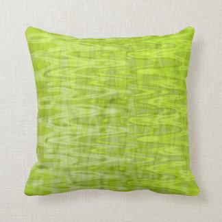 Coussin Motif frais d'abrégé sur vert de chaux