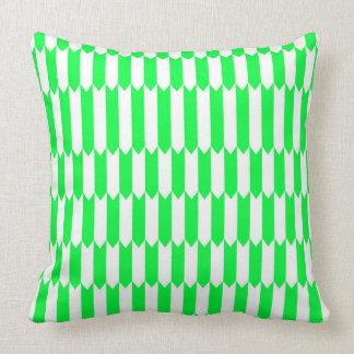 Coussin Motif géométrique vert et blanc