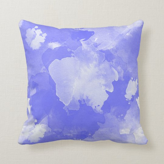 Coussin motif violet d'aquarelle