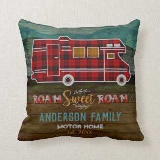Coussin Motorhome rv Camper Travel Van Rustic Personalized