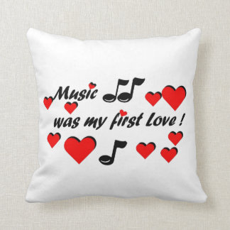Coussin Music que my comble Love