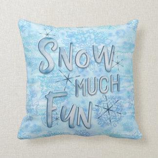 Coussin Neigent les flocons de neige de beaucoup