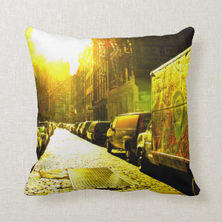Coussin New-York Color – Yellow Street –