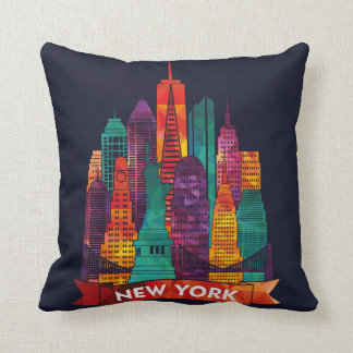 Coussin New York - voyage aux points de repère célèbres