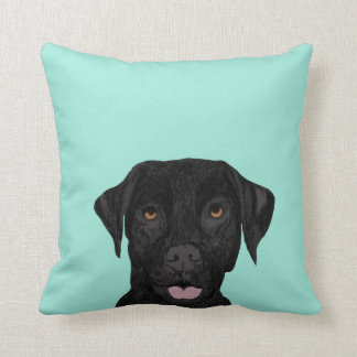 Coussin noir de chien de Labrador - laboratoire
