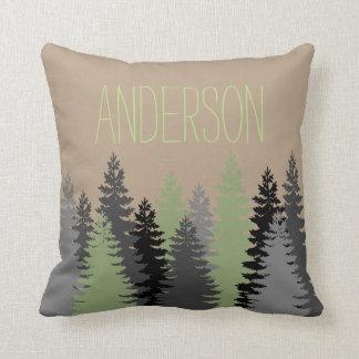 Coussin Nom de coutume de pin en bois de forêt noire