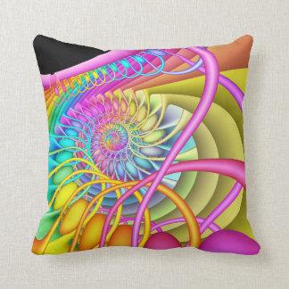 Coussin Oeufs en pastel en spirale de fractale