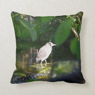 """Coussin Oiseau de héron de nuit, carreau 16"""" x 16"""""""