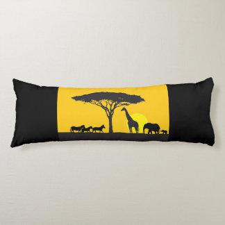Coussin orienté de corps de la savane africaine
