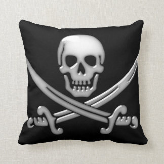 Coussin Os croisés de crâne et d'épée de pirate (TLAPD)