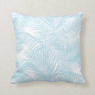 Coussin Palmier tropical moderne simple de bleus layette