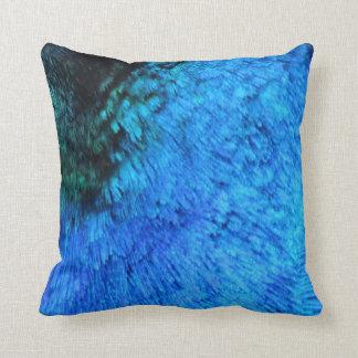 Coussin Paon bleu renversant