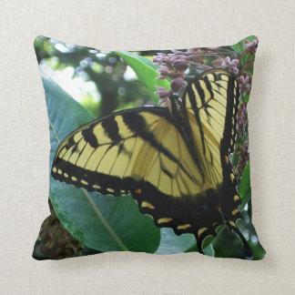 Coussin Papillon de machaon I sur le Milkweed chez