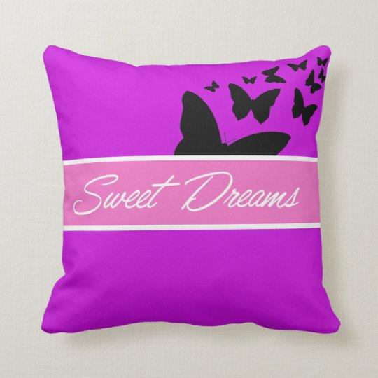 Coussin papillon mauve sweet dreams