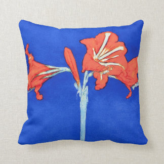 Coussin Piet Mondrian - peinture de fleur de beaux-arts