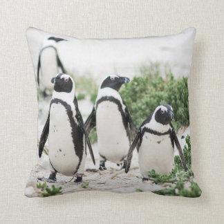Coussin Pingouins à la plage