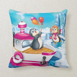 Coussin pingouins en Antarctique