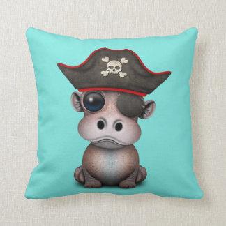 Coussin Pirate mignon d'hippopotame de bébé