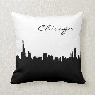 Coussin Point de repère noir et blanc de Chicago
