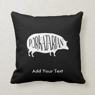 Coussin Porkatarian - porc drôle de cru d'amant de lard