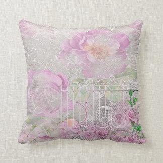 Pastel Pink White English Roses Garden Gate