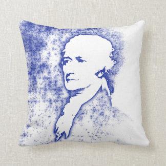 Coussin Portrait Alexander Hamilton d'art de bruit dans le
