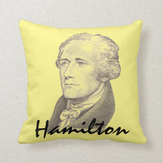 Coussin Portrait d'Alexander Hamilton