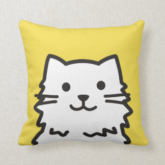 Coussin Portrait drôle de chat