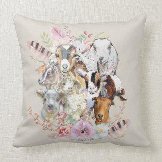 Coussin Portraits mignons GetYerGoat™ de chèvre