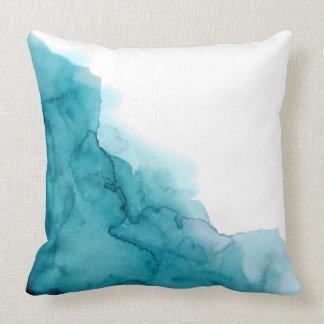 Coussin pour aquarelle de peinture de bleu d'océan
