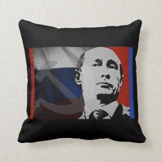 Coussin Poutine avec le drapeau russe