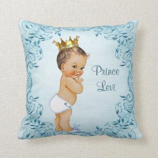 Coussin Prince personnalisé Blue Leaves de brune