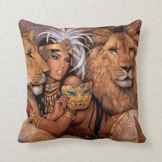 Coussin Princesse égyptienne Pillow de déesse de lion