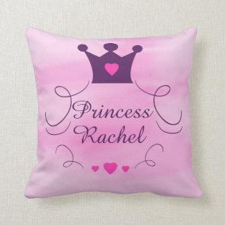 Coussin Princesse rose Crown Tiara Royalty Hearts de bébé