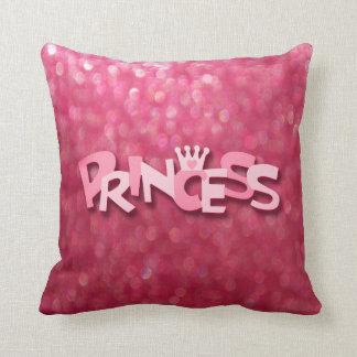 Coussin Princesse rose scintillante mignonne Bokeh