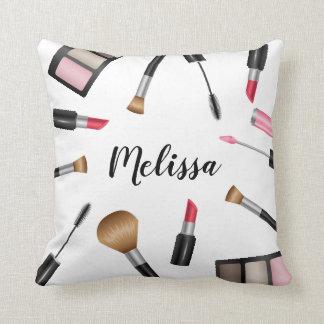 Coussin Produits de maquillage avec le nom personnalisé
