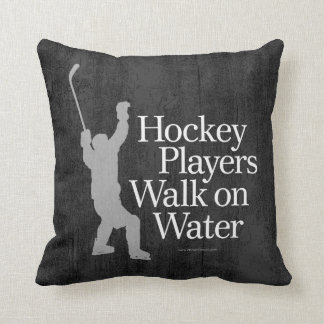 Coussin Promenade de joueurs de hockey sur l'eau