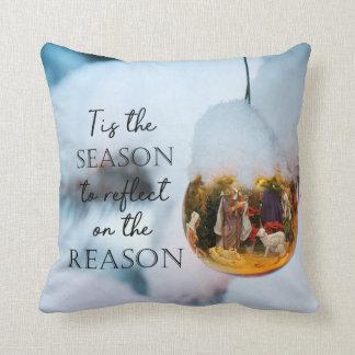 Coussin Raison de l'ornement de nativité de saison