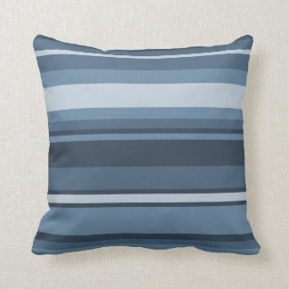 Coussin rayures Gris-bleues
